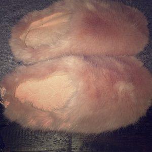 Lauren Conrad fuzzy slippers